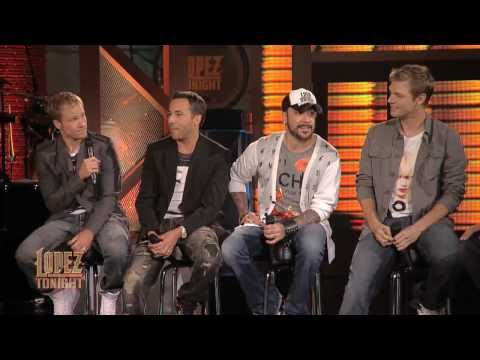 Backstreet Boys on Lopez Tonight -  Twitter Q&A ( 27-07-2010)