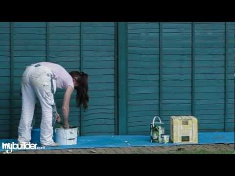 Painting an Outside Fence