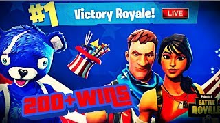 New Fourth of July Skins Worst Console Player 200+ Wins Fortnite Battle Royale