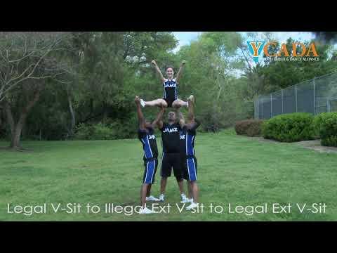 YCADA Cheer - Glossary - V-Sit