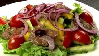 Вкусно и просто: Салат с говядиной и овощами от Ольги Крыловой