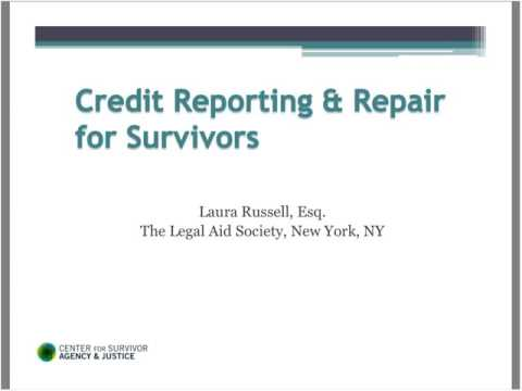 Credit Reporting & Repair for Survivors