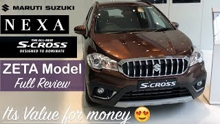 New Maruti Scross Facelift 2017 Zeta Model Interior,Exterior Walkaround and Review