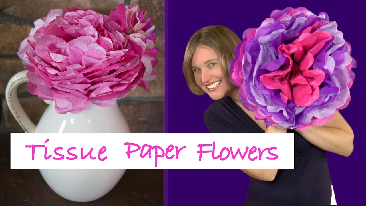 Diy Tissue Paper Flower Tutorial Fun Craft Project For Kids