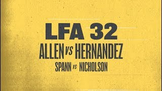 Two Titles Are on the Line at LFA 32 | January 26th on AXS TV