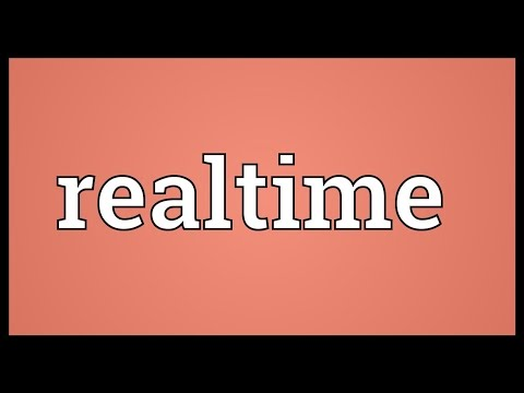 Realtime Meaning