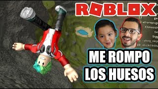 I Break The Bones in Roblox 999,999 Meter Free Fall Roblox Karim Games Play