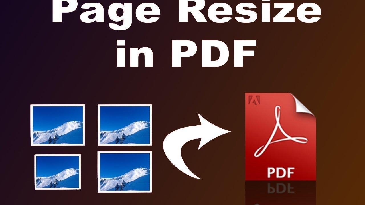RESIZE PAGE PDF ACROBAT EBOOK