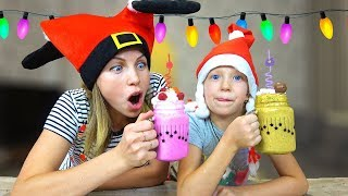 НОВОГОДНИЙ КОКТЕЙЛЬ ЧЕЛЛЕНДЖ У Кого Вкуснее и Красивее? Milk Shake Challenge От Family Box