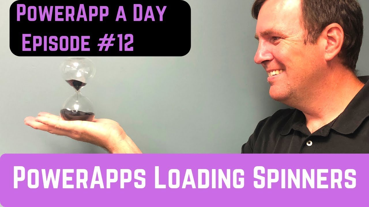 Creating a PowerApps Loading Screen Spinner Image - YouTube