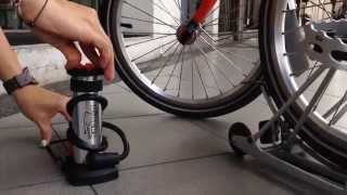 Demostrationas: BIkers Dream Mini Foot Pump