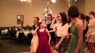 Line dancing by the Bride's wedding party
