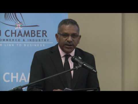 Hon. Faiyaz Siddiq Koya  Chief Guest at the Fiji Chamber of Commerce and Industry Breakfast Seminar