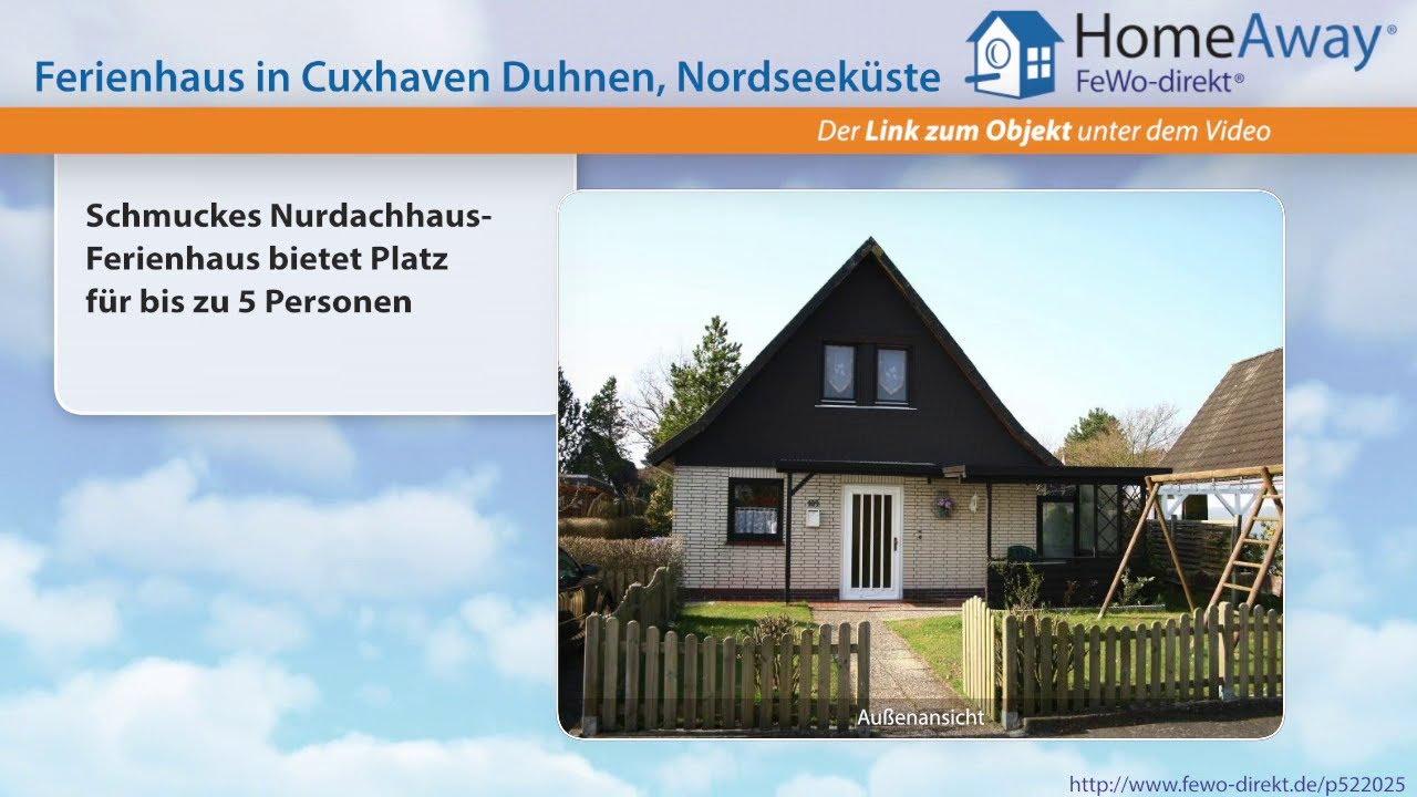 Cuxhaven: Schmuckes Nurdachhaus-Ferienhaus bietet Platz für bis zu 5 ...
