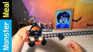 EATING LEGO HOGWARTS TRAIN & Harry Potter | Monster Meal ASMR Eating Sounds | Kluna Tik Style