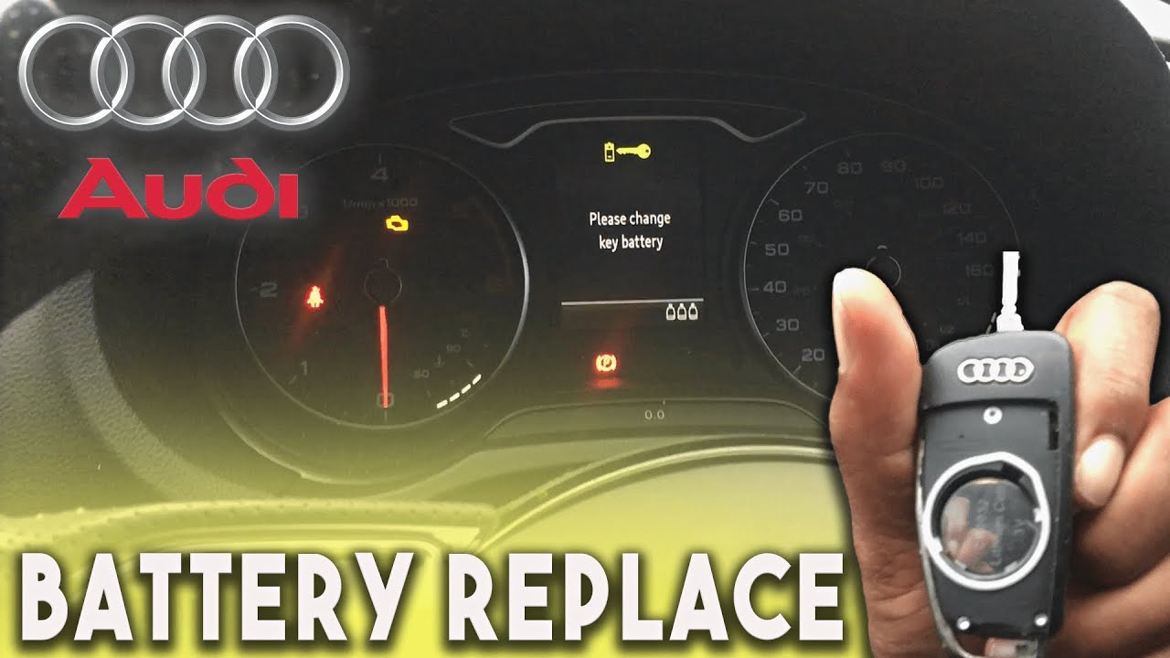 how to change audi car key battery
