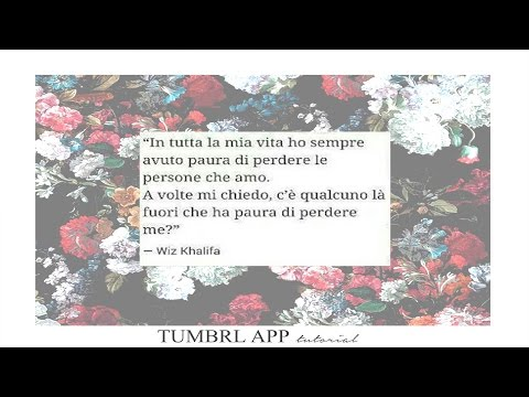 Tumblr Effect Tutorial Ita App Frase Su Sfondo Youtube