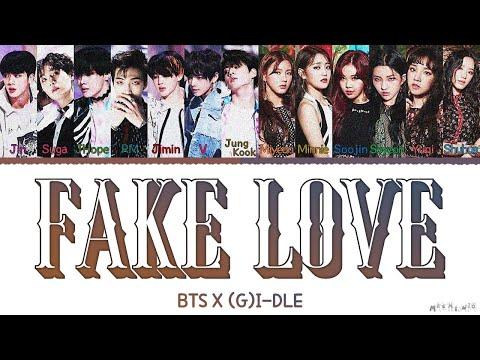 "BTS & (G)I-DLE ""Fake Love"" MASHUP Color Coded Lyrics Han|Rom|Eng"