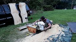 Making Boards from Logs - Chainsaw Milling White Pine for chair seats and table tops