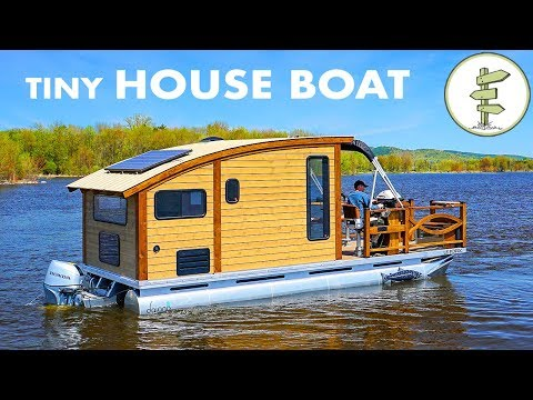 Woodworker Builds The Perfect Tiny House Boat for Life on the Water