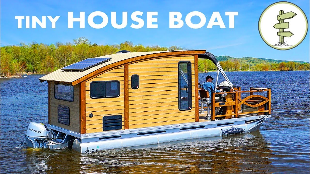 Woodworker Builds The Perfect Tiny House Boat For Life On