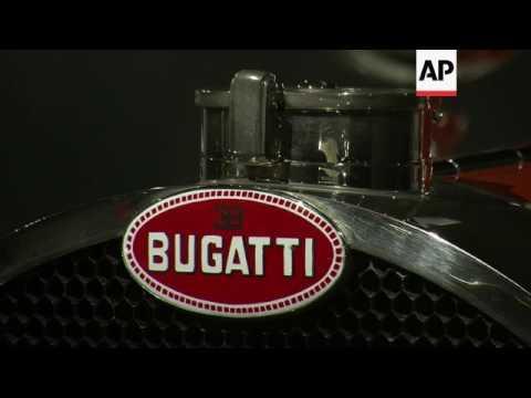 Rare Bugatti car exhibits on display in Los Angeles