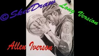 """Speed drawing Allen Iverson """"Long Version"""""""