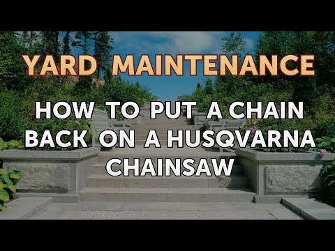 How to put a chain back on a husqvarna chainsaw youtube how to put a chain back on a husqvarna chainsaw keyboard keysfo Image collections