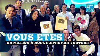 FRANCE 24 fête son million d'abonnés YouTube en français et en arabe