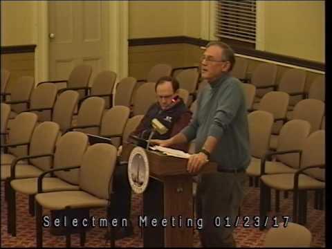 Selectmen Meeting 1/23/17