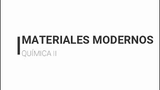 Materiales Modernos