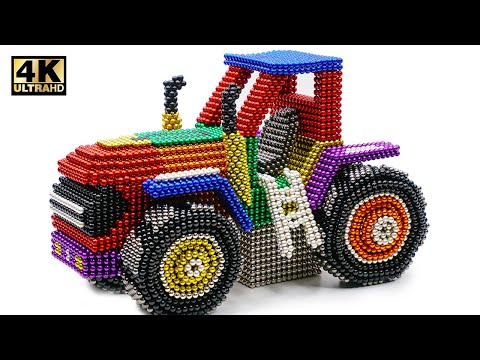 DIY - How To Make Color Tractor John Deere From Magnetic Balls ( Satisfying ) | Magnet World 4K