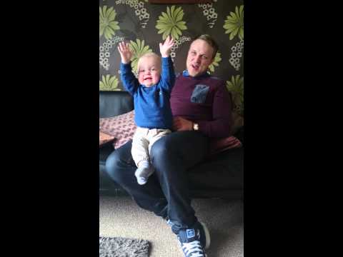 Baby's Priceless Reaction To Dad's Soccer Chant