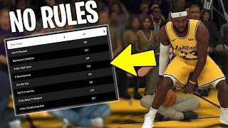 Turning Off Every Rule In NBA 2K20!