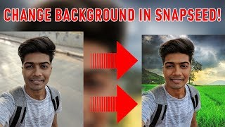 Easily change background on Snapseed! Android App! Stacks Brush tool! #EditWithDJ
