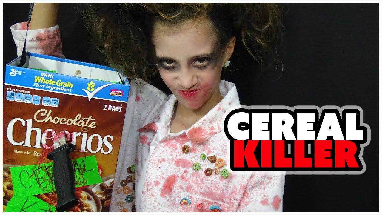 Cereal killer warning scary for kids jaylas halloween costume cereal killer warning scary for kids jaylas halloween costume youtube ccuart Choice Image