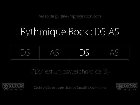 Rock on D5 A5 : Backing track
