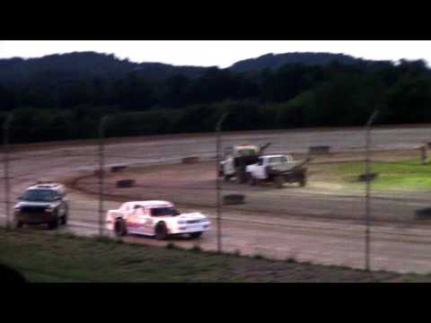 Marion Center Speedway 8/5/17  Tow Truck Pushing Tow Truck