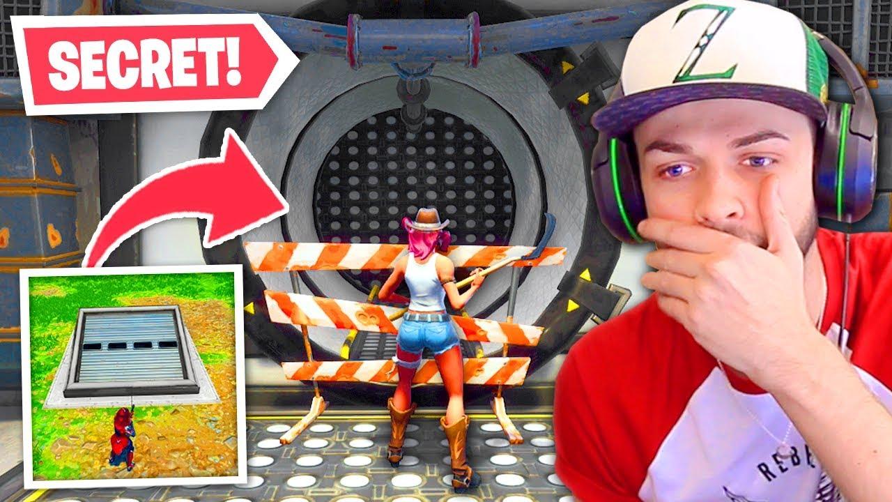 The Secret Bunker Is Now Open In Fortnite Youtube