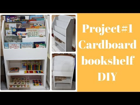 DIY Cardboard Bookshelf For Kids L Craft Furniture