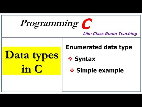 Data Types In C   Enumerated Datatype  