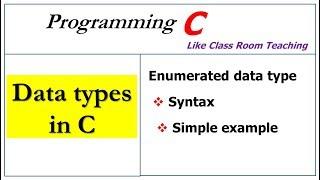 A Enum Data Type In C