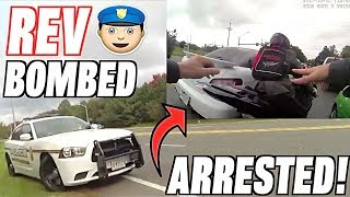 Video My Friend Rev Bombs a Cop - Tackled, Arrested, and Jailed! (Police vs Bikers) download MP3, 3GP, MP4, WEBM, AVI, FLV Januari 2018