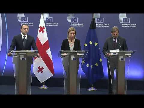 Press point by Federica MOGHERINI following the EU-Georgia Association Council