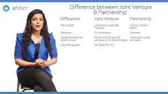 Difference between Joint Venture and Partnership - What makes them unique - Part 1 - CA(CPT)