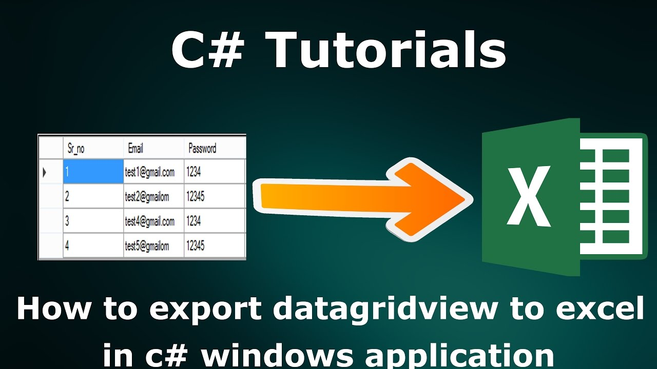 How to export datagridview to excel in c# windows application