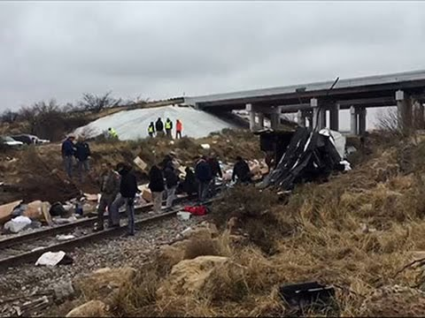 Raw: Aftermath of Deadly TX Prison Bus Crash