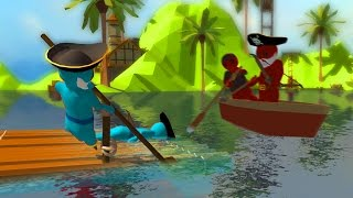 УСТРОИЛИ ЖЕСТКУЮ БИТВУ НА РЕКЕ! (Raft Battle Simulator)