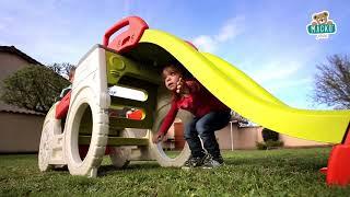 Gyerek mászóka Adventure Car Smoby homokozóval és