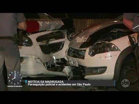 Após perseguição, polícia prende dois suspeitos de furtar pneus em SP | Primeiro Impacto (05/10/17)